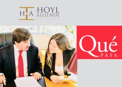 Nuestro estudio jurídico entrevistado en revista Qué Pasa